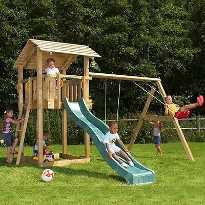 spielturm jungle gym shelter mit rutsche schaukel und sandkasten eur 888 00 picclick de. Black Bedroom Furniture Sets. Home Design Ideas