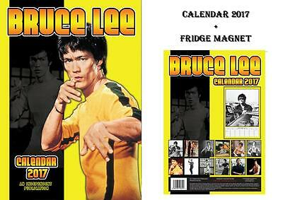 Bruce Lee 2017 Calendar + Bruce Lee Fridge Magnet - In Stock Now