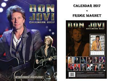 Bon Jovi 2017 Calendar + Bon Jovi Fridge Magnet - In Stock Now