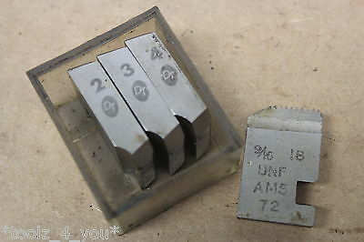 "DT 9/16"" x 18 Tpi UNF Coventry Die Chasers For 3/4"" Head CD113"