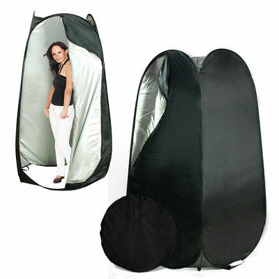 Portable Pop Up Black Dressing Room Model Changing Fitting Tent Outdoor Camping