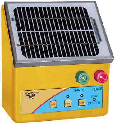 2.5km SOLAR Powered Electric Fence ENERGISER Charger Thunderbird S26B Regional