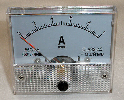 DC 1A Ampmeter Analog Current Panel Meter Ammeter 0-1A