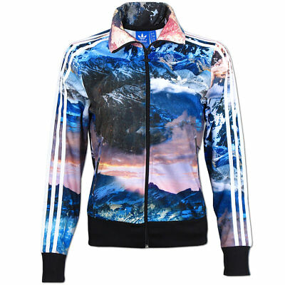 adidas Damen Jacke Originals Mountain Clash Firebird Track Top multicolor NEU