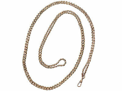 Antique 9ct Yellow Gold Longuard / Watch Chain - Circa 1890