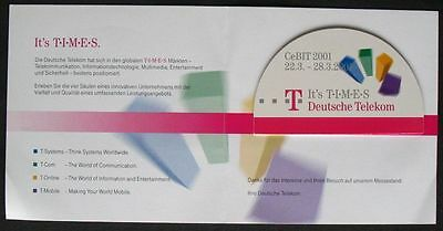 I038) Folder CallingCard Cebit 2001 6DM mint/** Sonderedition