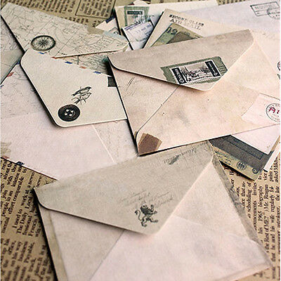 12Pcs Home Office Stationery Mini Paper Ancient Envelope Collection Craft