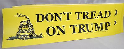 WHOLESALE LOT OF 10 DON'T TREAD ON TRUMP BUMPER STICKERS Gadsden flag Donald US