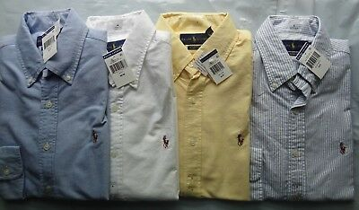 NWT New Polo Ralph Lauren Solid Oxford Sport Shirt CLASSIC FIT S M L XL XXL
