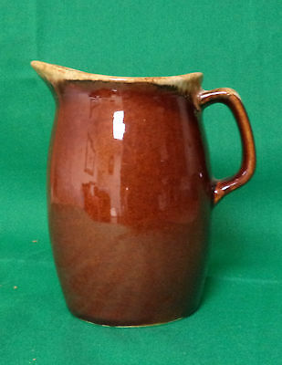 Vintage Small Brown Hull Pitcher With A White Foam Edge