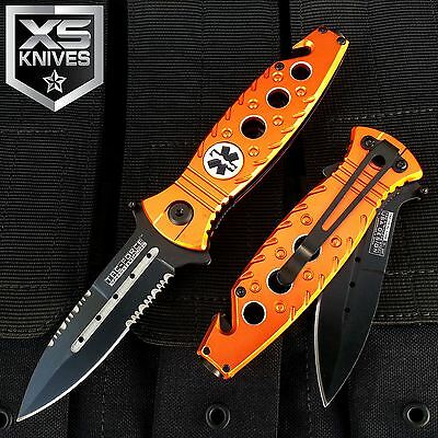 MultiTool Tactical EMS Spring Assisted PARAMEDIC Rescue Pocket Knife Outdoor EDC
