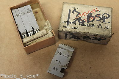 """Alfred Herbert 1 3/4"""" x 11 Tpi BSP Chasers For 2 1/2"""" FT Coventry Die Head CD161"""