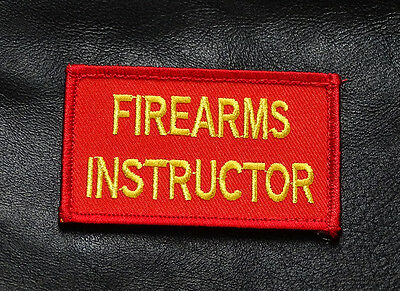 Firearms Instructor Embroidered 3 Inch Tactical Morale Hook Patch