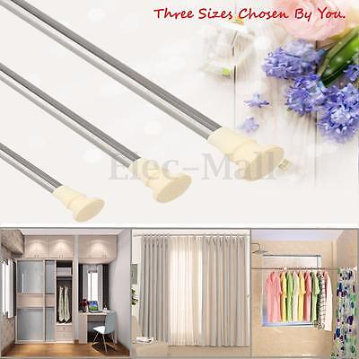 Stainless Extendable Adjustable Rod Spring Tension Pole Window Curtain Bathroom