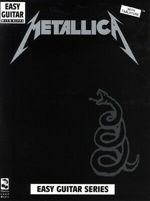 METALLICA - The Black Album Easy Guitar TAB Book *NEW* Music Lyrics