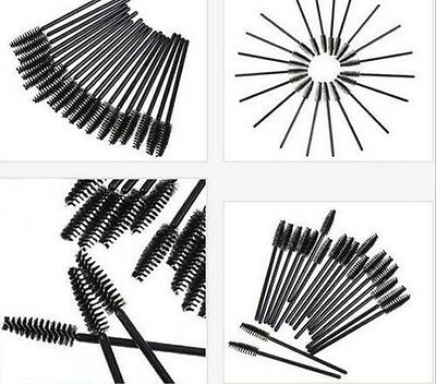 10Pcs Oblique Design Eyebrow Brushes Rotate Brow Brush Beauty Makeup Tool Black