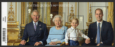 2016 QUEEN'S 90th BIRTHDAY Mini Sheet Mint - WITH BARCODE MARGIN MS3832