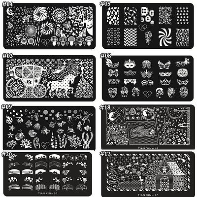 Hot Ladies Pretty Nail Art Stamping Stamp Image Template Plates DIY 24 Styles