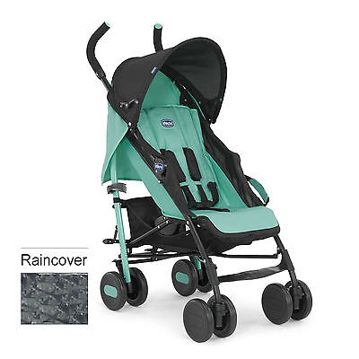 Chicco Echo Pushchair Stroller Sea Green With Raincover