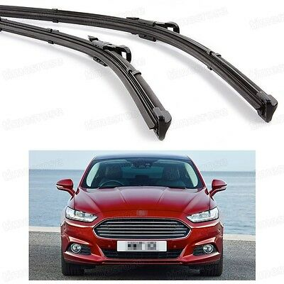 2Pcs Car Front Windshield Wiper Blade Bracketless for Ford Mondeo 2013-2016
