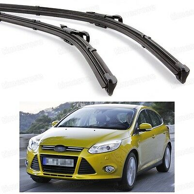 2Pcs Car Front Windshield Wiper Blade Bracketless for Ford Focus 2011-2016