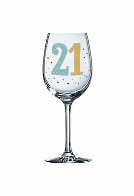 Essence Wine Glass 21st Birthday with Stars Design In A Gift Box