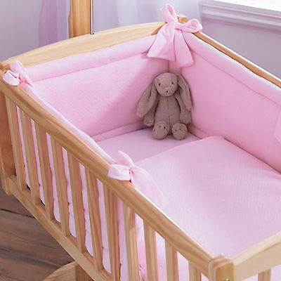 Clair De Lune Rocking Crib Two Piece Quilt And Bumper Set Cotton Candy Pink