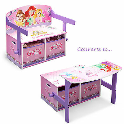 Delta Children Disney Princess 3In1 Convertible Bench / Desk / Toy Storage Box