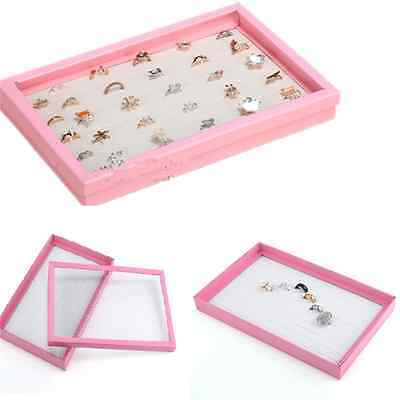 New 100 Hole Ring Earring Jewellery Display Storage Box Tray Show Case Organiser