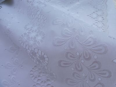 Elegant Victorian style  sheets with beautiful and large white eyelet lace