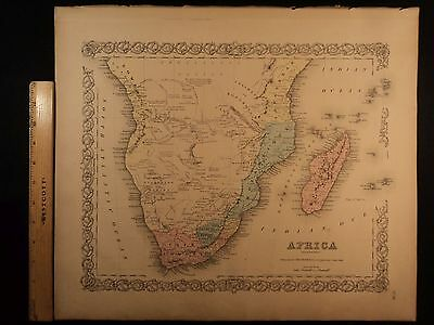1855 1st COLTON Atlas Map AFRICA Mozambique Madagascar Cape Colony 14x17in