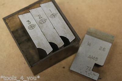 "Alfred Herbert 1/4"" x 26 Tpi BSF Coventry Die Chasers For 1"" Head CD197"