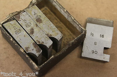"Alfred Herbert 1/2"" x 16 Tpi BSF Coventry Die Chasers For 1 1/4"" Head CD206"