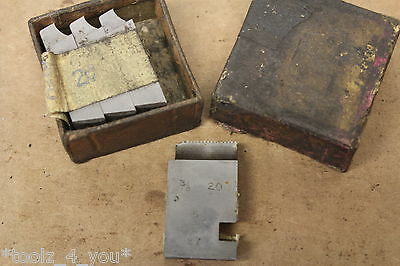 """New Alfred Herbert 3/8"""" x 20 Tpi BSF Coventry Die Chasers For 1 1/4"""" Head CD207"""