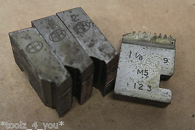 "Alfred Herbert 1 1/8"" x 9 Tpi BSF Coventry Die Chasers For 1 1/2"" Head CD210"