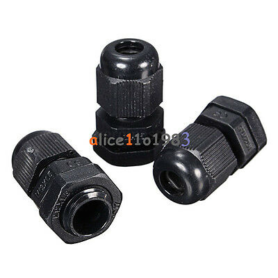 10PCS Waterproof Fixing Gland Connector PG7 for 3.5-6mm Dia Cable Wire