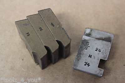"Alfred Herbert 5/8"" x 26 Tpi BRASS BSB Coventry Die Chasers For 3/4"" Head CD229"