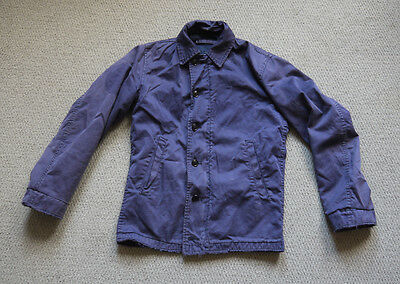 Vintage 1950s Navy Blue USN N-4 Deck Jacket Conmar Zip