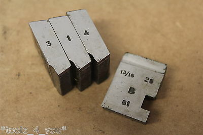 """Alfred Herbert 13/16"""" x 26 Tpi BRASS BSB Coventry Die Chasers 3/4"""" Head CD231"""