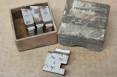 """Alfred Herbert 1 3/8"""" x 20 Tpi WHIT FORM Coventry Die Chasers 1 1/4"""" Head CD242"""