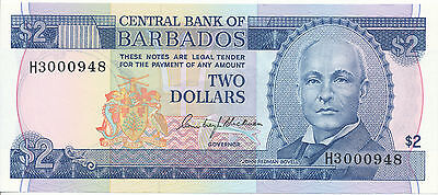 Barbados - 2 Dollars 1980 UNC - Pick 30, Serie H3