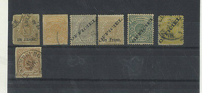 7 Timbres Postes Anciens Grand Duche Du Luxembourg