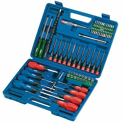Draper 70 Piece Plain/Cross/TORX Screwdriver, Metric/AF Socket & Bit Set - 40850