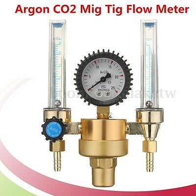 Argon CO2 Mig Tig Flow Meter Regulator Welding Welder Double Backpurge Tester
