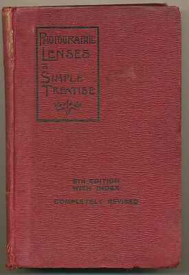 "Beck-Andrews libro ""Photographic Lenses A Simple Treatise"" in inglese 1903 D732"