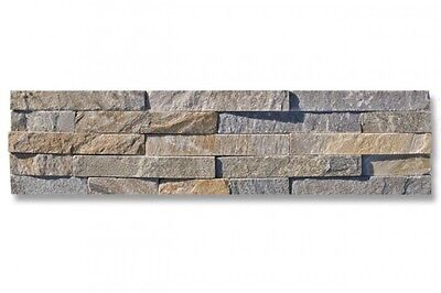 Yellow Quartzite Split Face Mosaic Sample 150x150 Rock Panels - 3D Wall Cladding