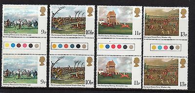 GB 1979 Horseracing Paintings traffic light gutter pairs MNH. Unfolded stamps.