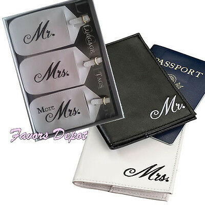 Mr. and Mrs. Passport Covers and Luggage tags wedding gift bridal shower