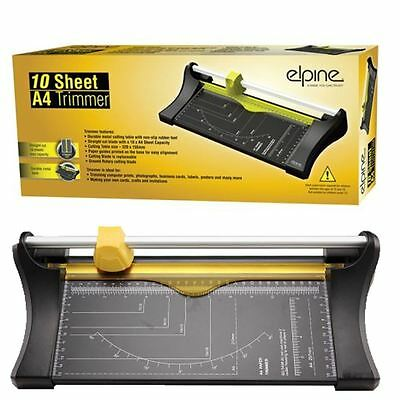 10 Sheet A4 Precision Photo Rotary Paper Cutter Trimmer Arts Crafts Home Card