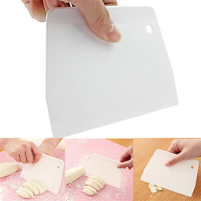 Cake Plain Edge Scraper Cutter Sugarcraft Smoother Smoothing Mould Tools White